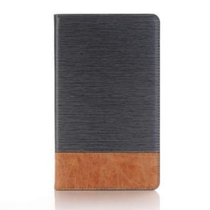 Voor Galaxy Tab een 8.0 (2017) / T385 Kruis textuur horizontale Flip Case Cover met kaartsleuven & houder & portemonnee (grijs)
