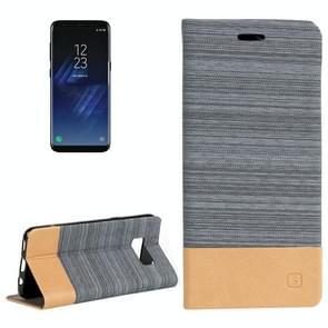 Samsung Galaxy S8 PLUS / G9550 horizontaal Denim structuur PU leren Flip Hoesje met houder en opbergruimte voor pinpassen & geld (Baby blauw)
