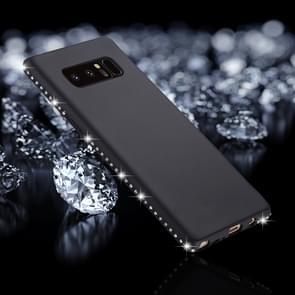 Voor Galaxy Note 8 Frosted Crystal Decor zijden zachte TPU terug beschermhoes (zwart)
