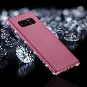 Voor Galaxy Note 8 Frosted Crystal Decor zijden zachte TPU terug beschermhoes (paars)