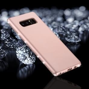 Voor Galaxy Note 8 Frosted Crystal Decor zijden zachte TPU terug beschermhoes (Rose goud)