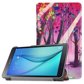 Voor Galaxy Tab A 8.0 Star boom patroon horizontale vervorming Flip lederen draagtas met drie-vouwen houder