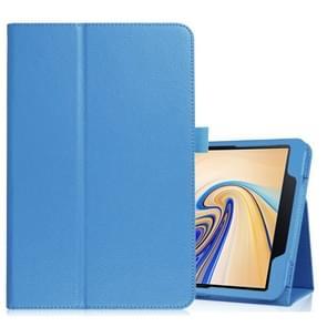 Litchi textuur horizontale Flip lederen case voor Samsung Galaxy tab S4 10 5 T830/T835  met houder (blauw)