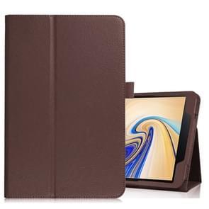 Litchi textuur horizontale Flip lederen case voor Samsung Galaxy tab S4 10 5 T830/T835  met houder (bruin)