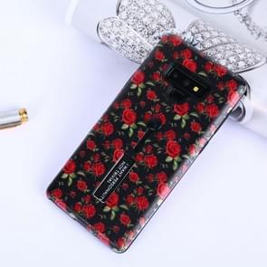 Bloemen patroon reliëf geschilderd TPU + PC geval met houder voor Galaxy Note9