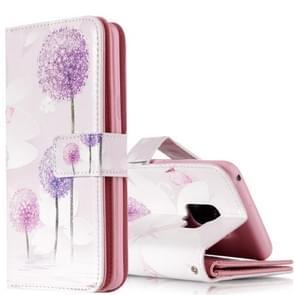 Voor Galaxy S9 paarse paardebloem patroon horizontale Flip lederen draagtas met houder & kaartsleuven & portemonnee