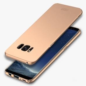 Samsung Galaxy S8 ultra-dun Frosted structuur MOFI Kunststof back cover Hoesje (goudkleurig)