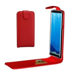 Samsung Galaxy S8 PLUS / G9550 vertikaal PU leren Flip Hoesje met opbergruimte voor pinpassen (rood)