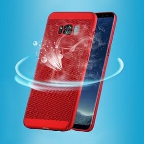 Samsung Galaxy S8 Schokbestendig ademend en licht van gewicht plastic back cover Hoesje (rood)