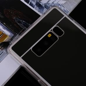 Voor Galaxy Note 8 acryl + TPU dekken galvaniseren spiegel beschermende back cover(Silver)