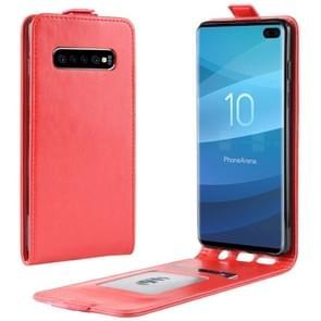 Business Style verticale Flip TPU lederen draagtas voor Galaxy S10 PLUS  met kaartsleuf (rood)