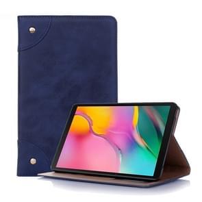 Retro boek stijl horizontale Flip lederen case voor Galaxy tab A 8 (2019) P200/P205  met houder & kaartsleuven & portemonnee (marineblauw)