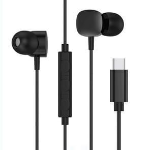 USB-C/type-C-interface HIFI dubbele bewegende cirkel in ear Wire-gestuurde stereo oortelefoon