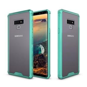 Acryl + TPU schokbestendig transparante Armor beschermende case voor Galaxy Note9 (groen)