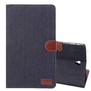 Dibase Denim textuur horizontaal flip PU lederen Case voor Galaxy Tab een 10.5 / T590  met houder & kaartslot (zwart)