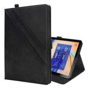 Horizontale Flip dubbele houder lederen Case voor Galaxy Tab S4 10.5 T830 / T835  met kaartsleuven & fotolijstjes & Pen Slot(Black)