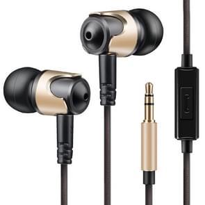 QKZ DM4 hoge kwaliteit in-ear sport muziek koptelefoon  microfoon versie (goud)