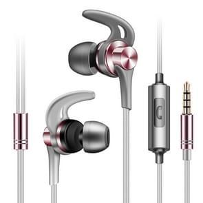 QKZ EQ1 CNC metalen shark fin hoofdtelefoon sport muziek hoofdtelefoon  microfoon versie (Rose goud)