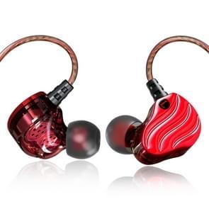 QKZ KD4 in-ear vier-delige koptelefoon sport muziek koptelefoon  microfoon versie (rood)