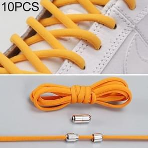10 pairs elastische elastische metalen gesp zonder koppelveters (Oranje)