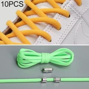 10 pairs elastische elastische metalen gesp zonder koppelveters (groen)