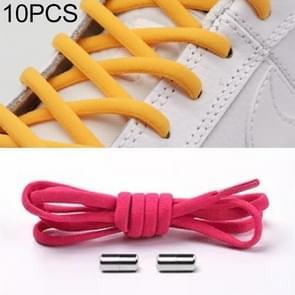 10 paar elastische metalen gesp zonder koppelveters (Rose Red)