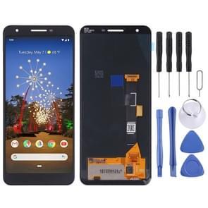 LCD-scherm en digitizer volledige montage voor Google pixel 3a (zwart)