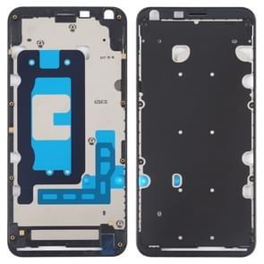Front behuizing LCD-frame bezel plaat voor LG Q6/Q6 PLUS/LG-M700/M700/M700A/US700/M700H/M703/M700Y (zwart)