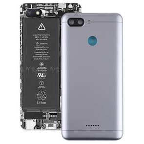 Achterste schutblad met Zijtoetsen voor Xiaomi Redmi 6(Grey)