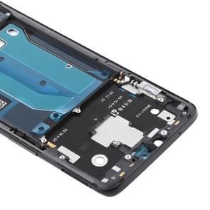 Voorzijde huisvesting LCD Frame Bezel plaat met Zijtoetsen voor OnePlus 6(Black)
