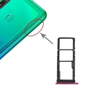 SIM-kaartlade + SIM-kaartlade + Micro SD-kaartlade voor Huawei P40 Lite E / Geniet van 10(Rood)
