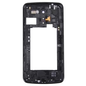 Achterplaat huisvesting Camera Lens paneel met spreker belsignaal Buzzer voor LG K10 (zwart)
