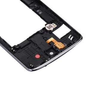 Achterplaat huisvesting Camera Lens paneel met spreker Ringer zoemer & trillende Motor voor LG K8 (zwart)