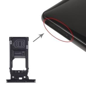 SIM-kaartlade + SIM-kaartlade + Micro SD-kaartlade voor Sony Xperia XZ2 (zwart)