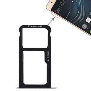 SIM-kaart lade + SIM-kaart lade/micro SD-kaart voor Huawei P9 Lite (zilver)