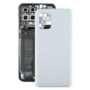 Glazen materiaal batterij achterkant voor Xiaomi Mi 10 Lite 5G(Wit)