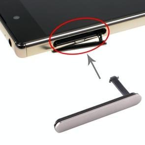 SIM Card Cap + Micro SD-kaart stofdicht blok voor Sony Xperia Z5 Premium(Zilver)