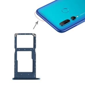 SIM-kaarthouder + SIM-kaarthouder / Micro SD-kaart lade voor Huawei P Smart + (2019) (blauw)