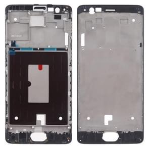 Front Housing LCD Frame Bezel Plate voor OnePlus 3 (Zwart)