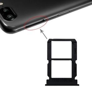 Zwarte SIM-kaart lade + SIM-kaart lade voor OnePlus 5T A5010