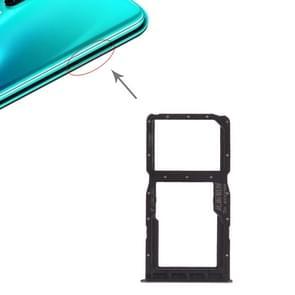 SIM-kaart lade + SIM-kaart lade/micro SD-kaart voor Huawei P30 Lite (grijs)