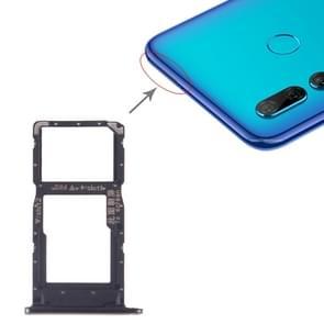SIM-kaart lade + SIM-kaart lade/micro SD-kaart lade voor Huawei P Smart + 2019 (zwart)
