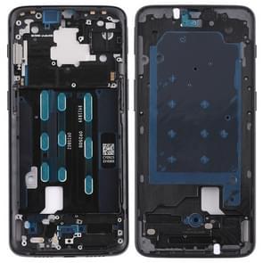 Voorzijde huisvesting LCD Frame omlijsting met zijsleutel voor OnePlus 6T(Black)