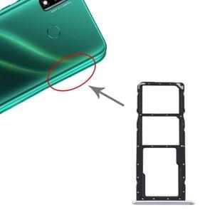 SIM-kaartlade + SIM-kaartlade + Micro SD-kaartlade voor Huawei Y8s (Zilver)