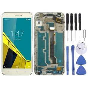 LCD-scherm en digitizer volledige montage met frame voor Vodafone Smart Ultra 6 VF-995N VF995N (wit)