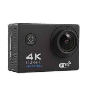 HAMTOD H9A HD 4K WiFi Sport Camera met waterdicht geval  Generalplus 4247  2.0 inch LCD-scherm  120 graden breed Lens van de hoek (zwart)