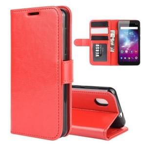 Voor ZTE Blade A3 Lite R64 Texture Single Horizontal Flip Protective Case met Holder & Card Slots & Wallet en Photo Frame(Red)