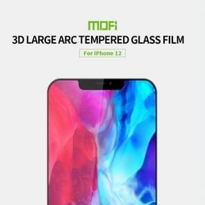Voor iPhone 12 MOFI 9H 3D Explosiebestendige Geharde glazen film (Zwart)