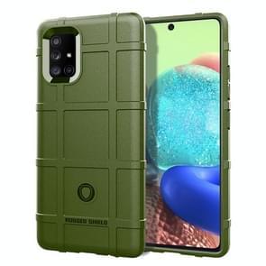 Voor Motorola Moto G9 Plus Volledige dekking Shockproof TPU Case (Army Green)