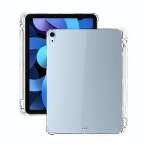 Voor iPad Air (2020) 10.9 Transparante all-inclusive TPU Siliconen Anti-drop Beschermhoes met pensleuf